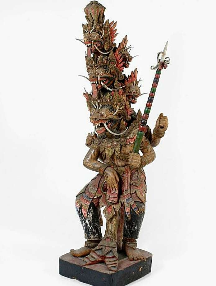 Krisna (1899) Northern Bali. Painted wood. Artist unknown.   commissioned by C. M. Pleyte Photo: Unknown, Tropenmuseum, Amsterdam