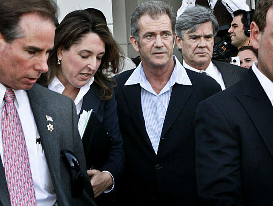 "Actor Mel Gibson Mel Gibson leaves Los Angeles Airport Courthouse after facing charges of domestic violence on Friday, March 11, 2011, in Los Angeles, California. Gibson entered a ""no contest"" plea to misdemeanor battery, agreed to 36-months probation and a 52-week domestic violence course. Gibson was accused of punching his ex-girlfriend, Oksana Grigorieva, and threatening her with a gun. (Irfan Khan/Los Angeles Times/MCT) Photo: Irfan Khan, MCT"