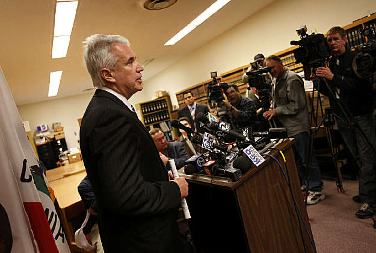 District Attorney George Gascon talked to the press about his past as the city chief of police. San Francisco District Attorney George Gascon announced Wednesday March 9, 2011 that 57 cases, many involving the Southern Station undercover unit, would be dismissed.