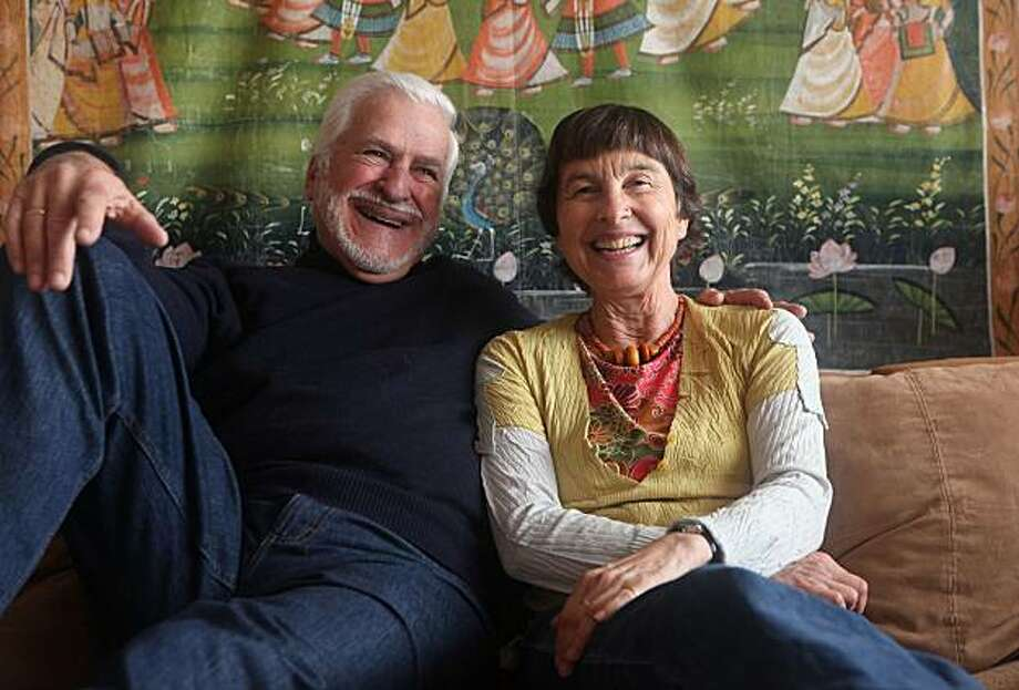 Michael Small and Monika Zschaebitz at home sitting on their couch in San Francisco, Calif., on Wednesday, March 2, 2011. Photo: Liz Hafalia, The Chronicle