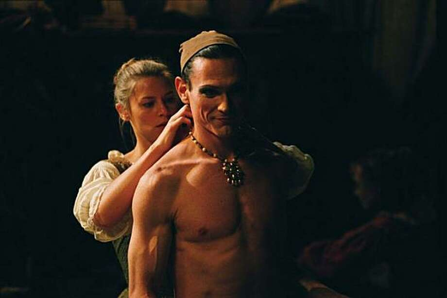 Claire Danes and Billy Crudup in &quo;Stage Beauty,&quo; in which Crudup portrays an actor who plays women's parts. Danes (at left) says he never asked her advice on how to move or behave like a woman. Photo: Clive Coote, Lionsgate 2004