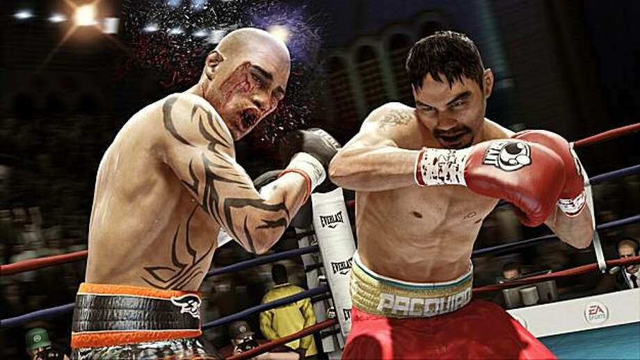 Manny Pacquiao and Miguel Cotto trade blows in the new boxing game Fight Night Champion. Photo: Courtesy EA Sports