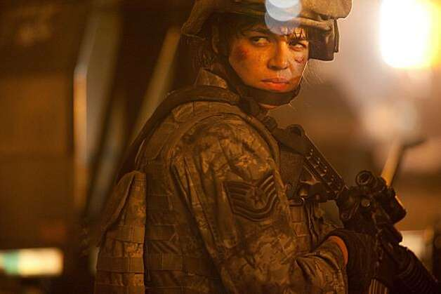 "Michelle Rodriguez in ""Battle: Los Angeles"" Photo: Sony"