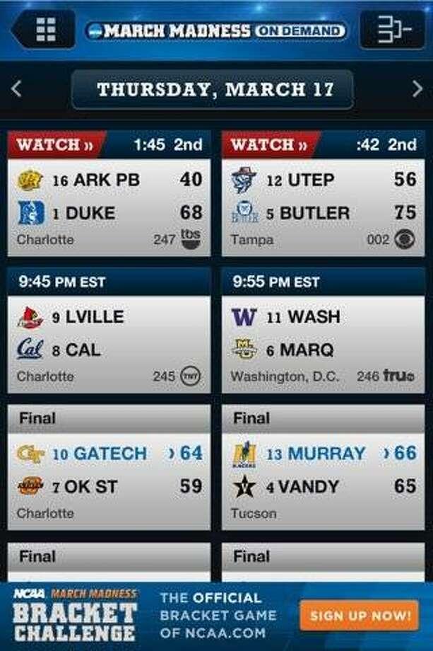 App of the Week: NCAA® March Madness® On Demand Photo: NCAA Digital