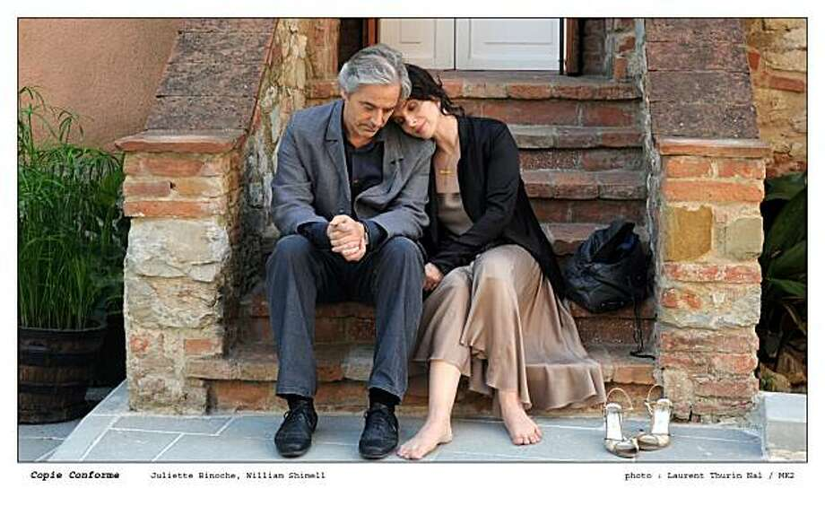 William Shimell as ÒJames MillerÓ and Juliette Binoche as ÒSheÓ in CERTIFIED COPY directed by Abbas Kiarostami Photo: Laurent Thurin Nal, IFC Films