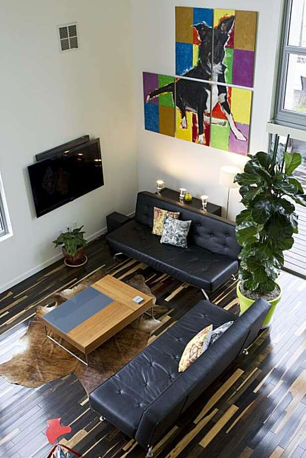 Leesa Tori and Opal Perry made extensive renovations to their condo at Vue46 in Emeryville, Calif. Photographed on Sunday, February 13, 2011. Photo: Laura Morton, Special To The Chronicle