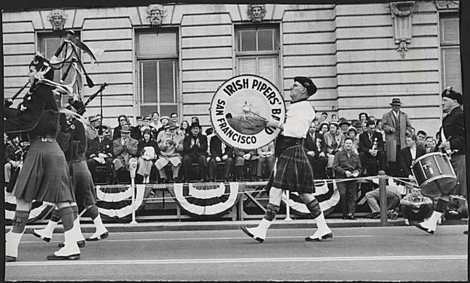 St. Patrick of Ireland was honored by a colorful, three-hour parade up Market Street on March 17, 1957, an event as all-encompassing and many-sided as San Francisco itself.  Photo was taken: 03/17/1957. Photo: Bob Campbell, The Chronicle