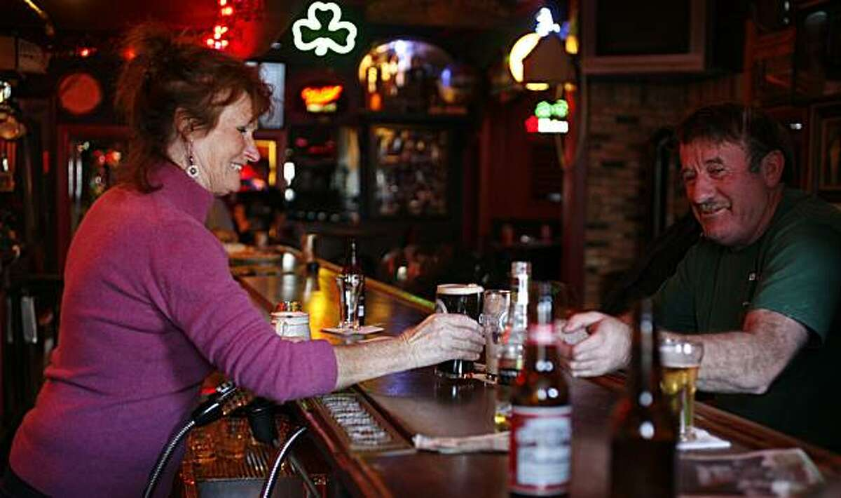 Theresa Morris (left) opened the Shannon Arms Irish Pub, located at 915 Taraval Street in San Francisco, thirty years ago with her husband Audi Morris who passed away six years ago.