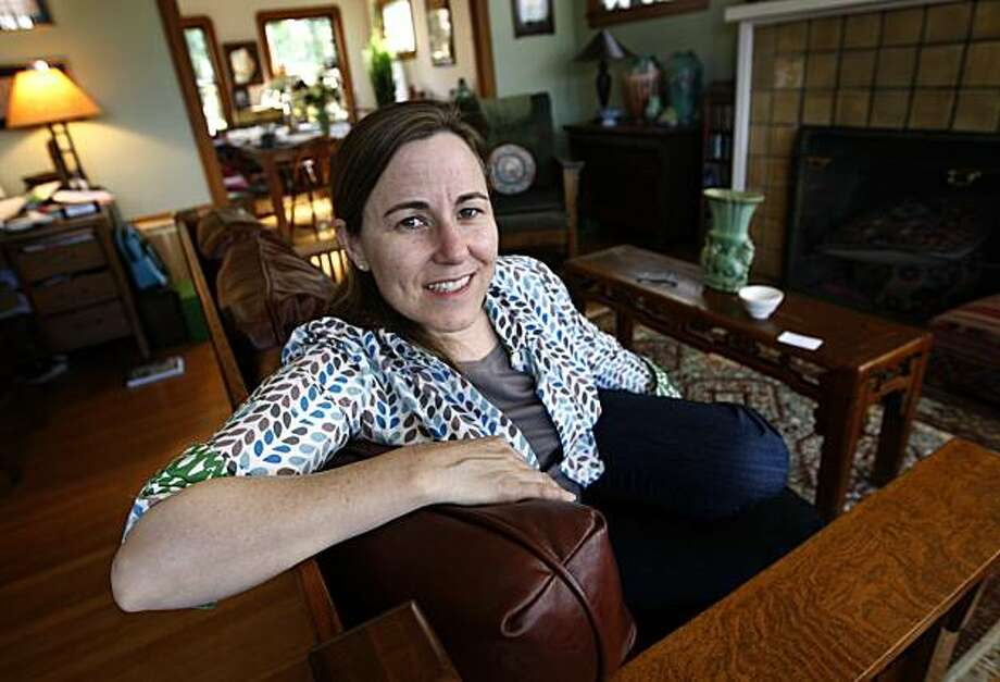 """Environmentalist Annie Leonard relaxes at her home in Berkeley, Calif., on Friday, March 19, 2010. Leonard's video, """"The Story of Stuff"""", has become an internet sensation and has just released a book with the same title which is quickly becoming a best seller. Photo: Paul Chinn, The Chronicle"""