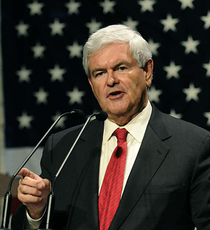 WAUKEE, IA - MARCH 07:  Former U.S. House Speaker Newt Gingrich speaks at the Iowa Faith & Freedom Coalition Event, Monday March 7, 2011 in Waukee, Iowa. Five Republicans considering a run for president in 2012 presented themselves to hundreds of activists at the event. Photo: Steve Pope, Getty Images
