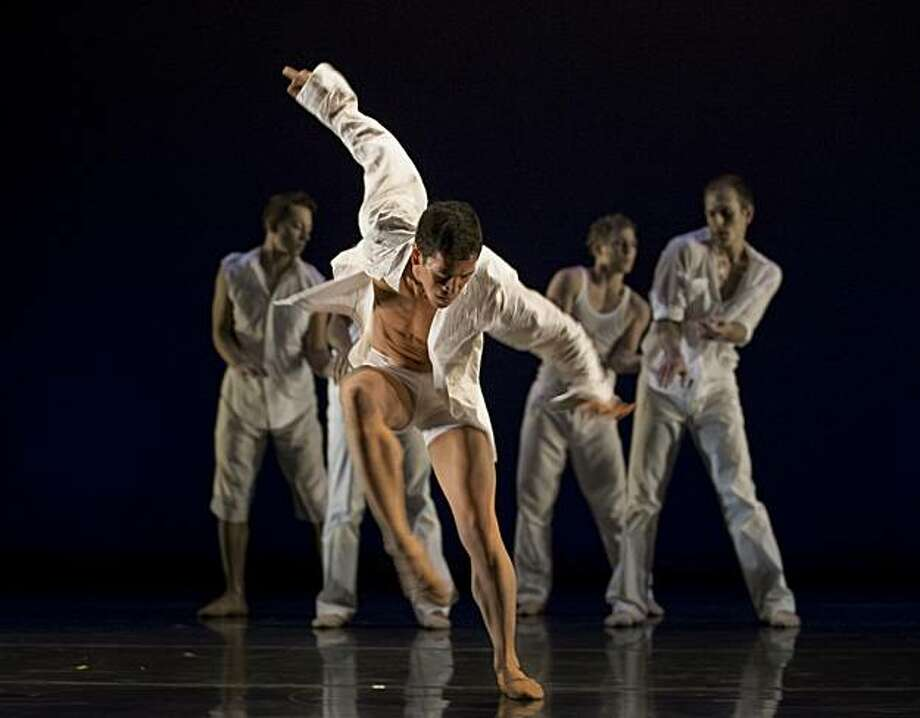 Photo credit is: The ODC dancers perform Labor of Love, a new work by KT Nelson; photo by Steve DiBartolomeo. Main dancer not identified Photo: Steve DiBartolomeo