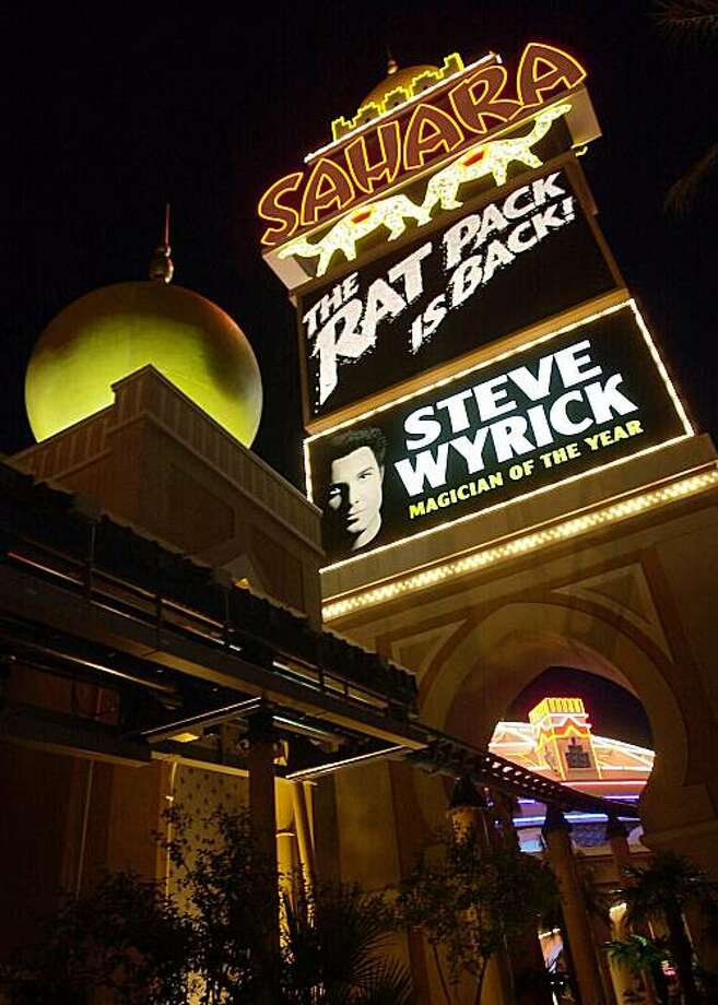 FILE - This file photo taken March 1, 2001 shows the marquee of the Sahara Hotel and Casino on the Las Vegas Strip. Owners of the Sahara Hotel & Casino on the Las Vegas Strip say the resort will close in mid-May, 2011, after nearly six decades in business. Photo: Laura Rauch, Associated Press