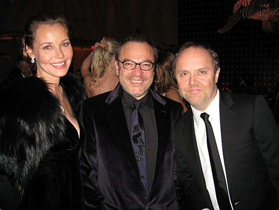 Actress Connie Neilsen (left) with Stanlee Gatti and her partner, Metallica's Lars Ulrich at the Mid-Winter Gala. March 2011. By Catherine Bigelow. Photo: Catherine Bigelow, Special To The Chronicle