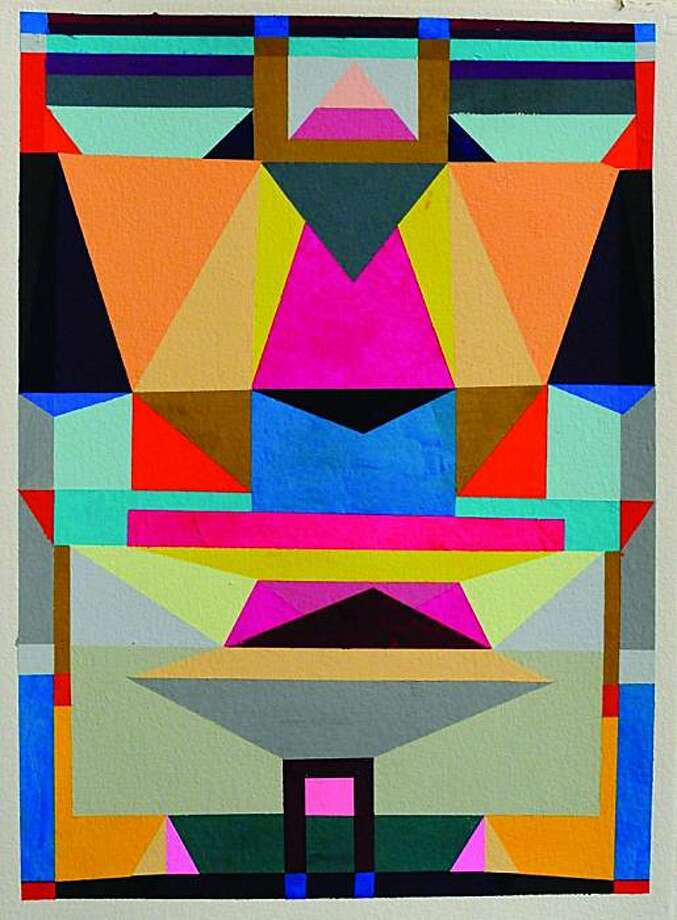 """System of Space 3"" (2010) gouache on paper by Alexander Kori Girard   30"" x 24"" Photo: Unknown, Triple Base, S.f."