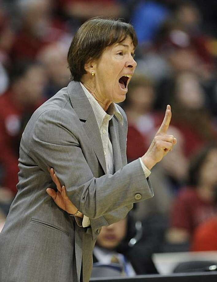Stanford head coach Tara VanDerveer during the first half of an NCAA college basketball game against UCLA at the Pac-10 conference championship, Saturday, March 12, 2011, in Los Angeles. Photo: Gus Ruelas, AP