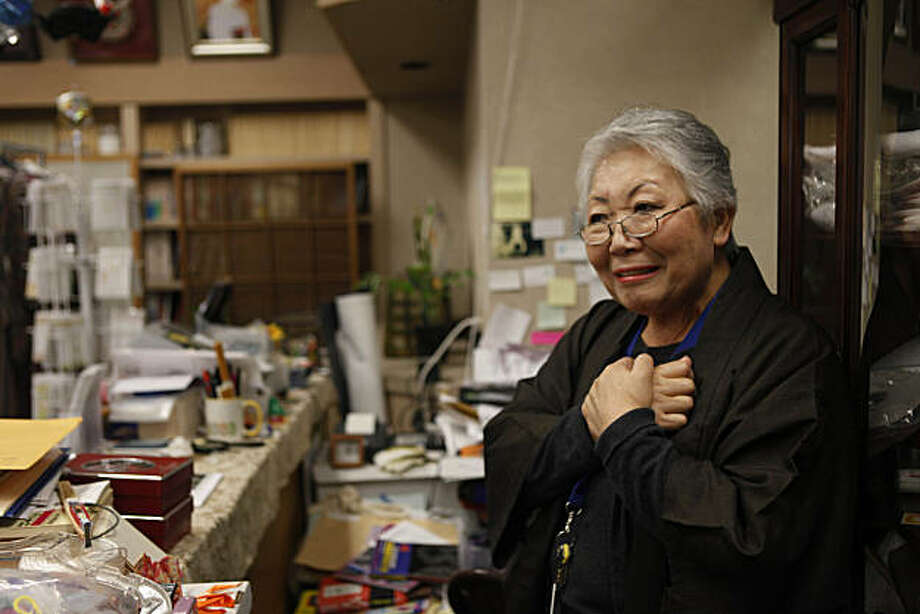 Seiko Fujimoto, co-owner of Dentoh, is seen at her shop   in Japantown on Friday, March 11, 2011 in San Francisco, Calif. Fujimoto's heard news that her daughter, who lives in Sendai with her family, was okay from her son in Phoenix, Arizona. Photo: Lea Suzuki, The Chronicle