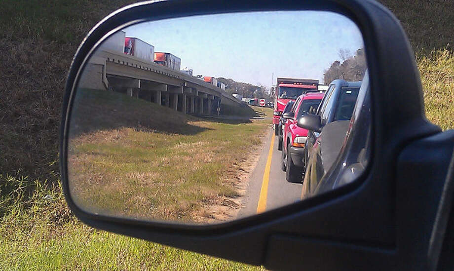 A wreck on the Neches River bridge is causing traffic delays on westbound lanes of Interstate 10. Photo: Guiseppe Barranco