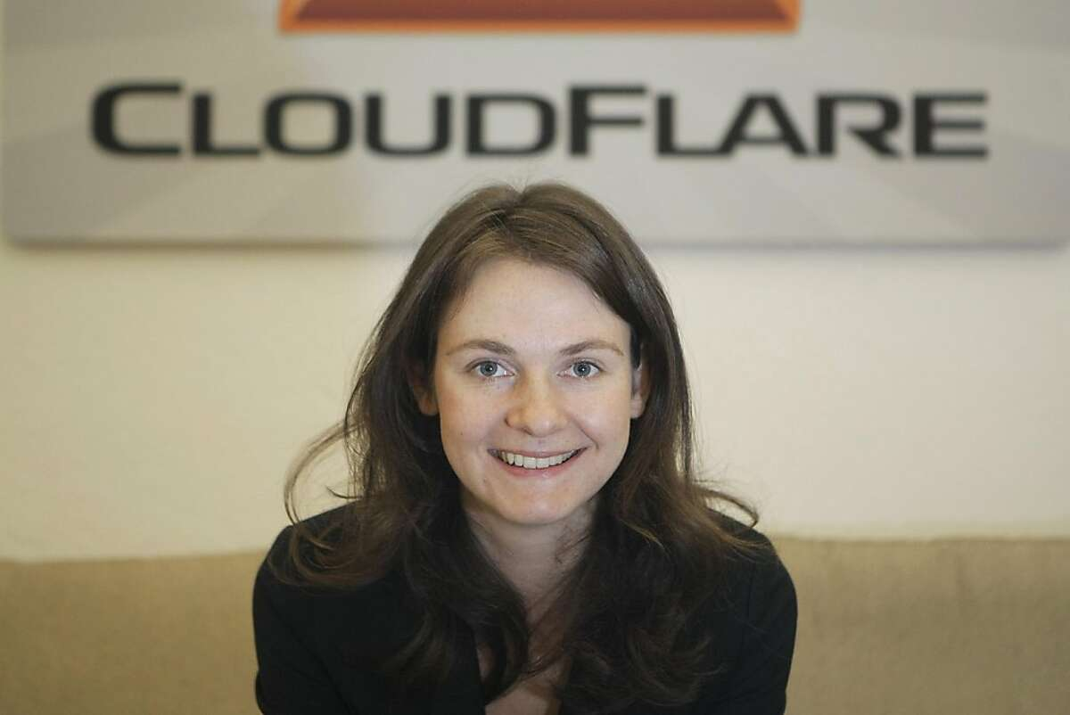 Michelle Zatlyn, co-founder of Cloudflare, in her office in the SOMA neighborhood of San Francisco, Calif., on Monday, Dec. 5, 2011.