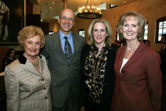 OTS/HEIDBRINK - Charline McCombs (Supporter), Bert Pfiester (Pres/CEO), Sherri Hernandez (Former Chair) and Marilyn Taylor (Board Member) were at the Respite Care luncheon on 11/18/2011 at the Pearl Stable. This is #1 of 2 photos. names checked photo by leland a. outz