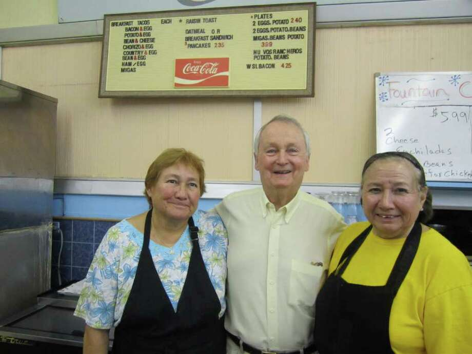 (From left) Olivia Mireles, Harry Brusenhan and Gloria Salazar, Laurel Heights Pharmacy