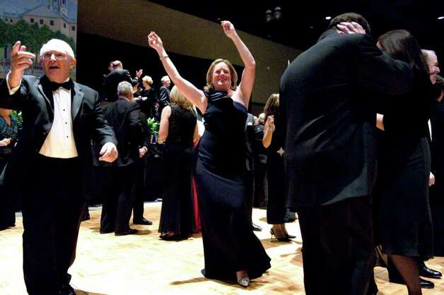 Cathy Malloy hits the dance floor during the inaugural ball honoring her husband, Dan Malloy, the 88th Governor of the State of Connecticut. The ball was held at the Connecticut Convention Center in Hartford, Conn. on Wednesday January 5, 2011. Photo: Keelin Daly / Stamford Advocate