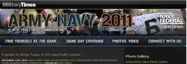 This screen shot on Google shows a cached page from the website MilitaryTimes.com's coverage of the 2011 Army-Navy game. On the right side of the page appears the Navy Federal Credit Union logo. Photo: Google Screen Shot