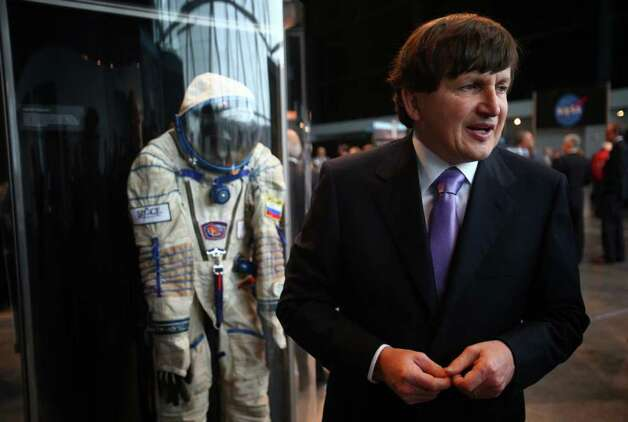Charles Simonyi talks about outer space during a dedication ceremony for the Museum of Flight's new Charles Simonyi Space Gallery. The gallery will feature as its centerpiece the Space Shuttle Full-Fuselage Trainer. The shuttle trainer will be delivered in stages beginning in June 2012. Photo: JOSHUA TRUJILLO / SEATTLEPI.COM