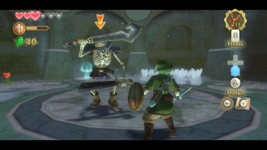 "This screen shot provided by Nintendo shows gameplay from the Wii video game ""The Legend of Zelda: Skyward Sword."" It's been five years since Link set out to rescue Zelda in a Nintendo console adventure. In ""Skyward Sword,"" out Sunday, the Wii Remote Plus motion controller fundamentally changes the franchise's gameplay _ and future _ according to producer Eiji Aonuma. (AP Photo/Nintendo)"