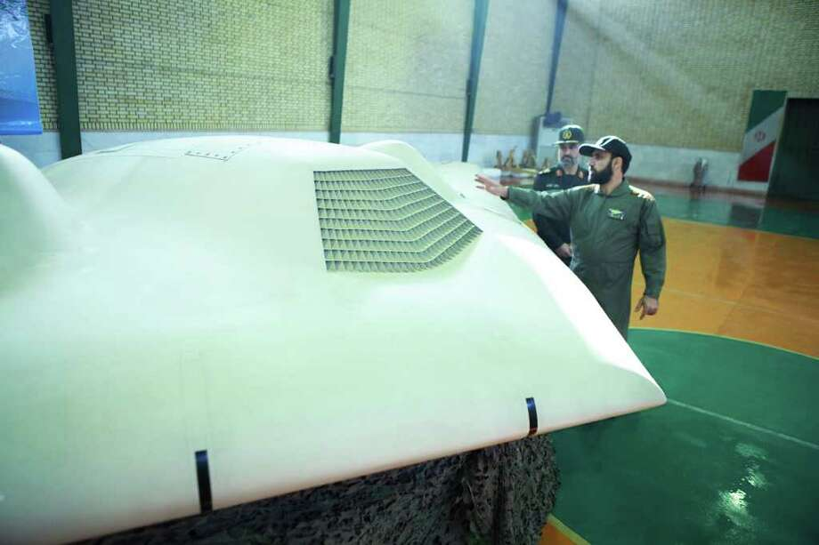 This photo claims to show a U.S. RQ-170 Sentinel drone that the Iranian government says it forced down. The aircraft was shown at an undisclosed location. Photo: SEPAHNEWS, ASSOCIATED PRESS / Iranian Revolutionary Guards