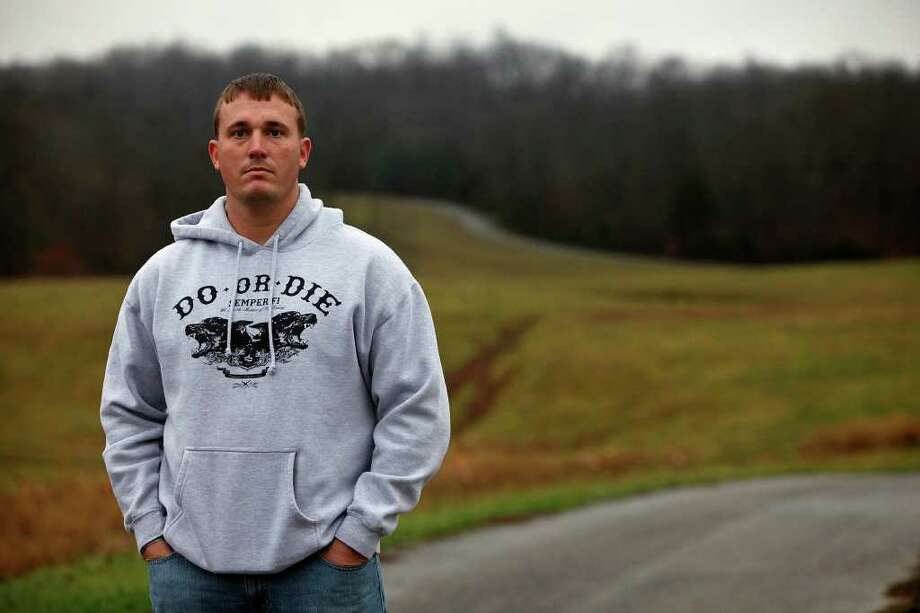 Medal of Honor recipient Dakota Meyer at the farm where he grew up in Adair County, Ky. Photo: LISA KRANTZ, SAN ANTONIO EXPRESS-NEWS / SAN ANTONIO EXPRESS-NEWS