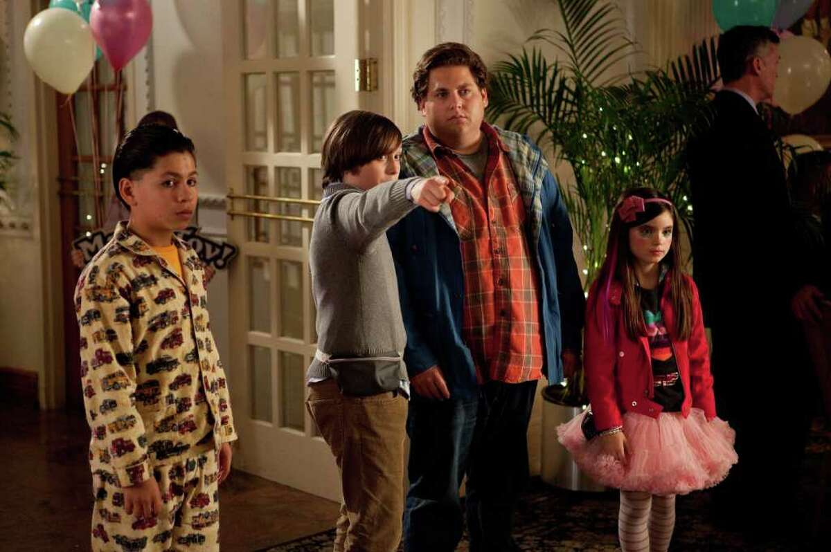20TH CENTURY FOX JUST KIDDING AROUND: Kevin Hernandez, from left, Max Records and Jonah Hill are ready to party in The Sitter.