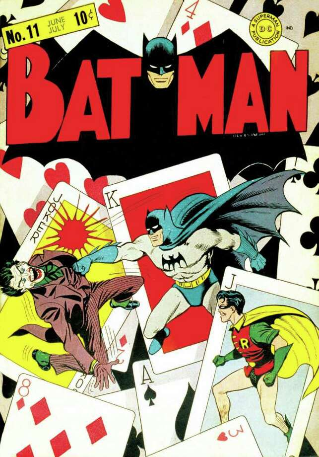 "In this undated photo provided by DC Comics, the issue 11 cover of ""Batman"" is shown. Jerry Robinson, the artist who helped create ""The Joker"" in the Batman series has died on Wednesday, Dec. 7, 2011 in New York City.  He was 89. (AP Photo/DC Comics, Jerry Robinson) Photo: Jerry Robinson"