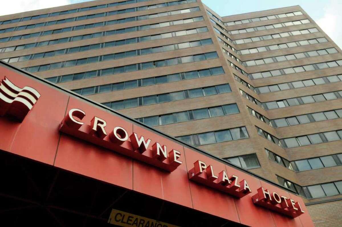 A view of the Crowne Plaza Hotel on Thursday, Dec. 8, 2011. (Paul Buckowski / Times Union)