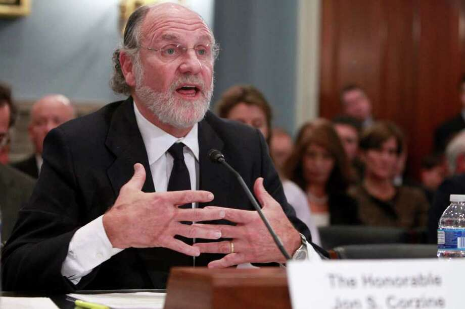 Former New Jersey Gov. and Sen. Jon Corzine testifies on Capitol Hill in Washington, Thursday, Dec. 8, 2011, before the House Agriculture Committee hearing regarding the collapse of MF Global. (AP Photo/Charles Dharapak) Photo: Charles Dharapak