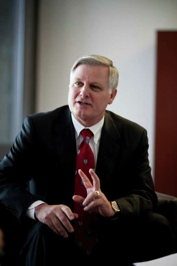 LyondellBasell Industries CEO James L. Gallogly made $23.4 million in direct compensation last year. For that amount of money, Gallogly could pay Rice University tuition for 673 students.  Photo: Nick De La Torre / Houston Chronicle