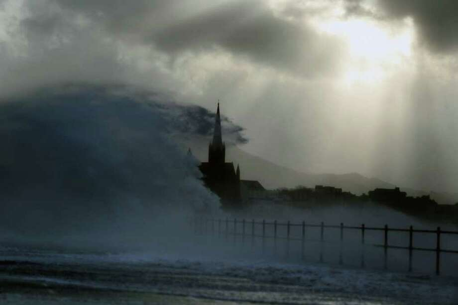 Largs promenade is battered by winds on December 8, 2011 in Largs, Scotland. Scottish police forces are advising members of the public not to travel, as severe winds start to hit many parts of the country. Photo: Jeff J Mitchell, Getty / 2011 Getty Images