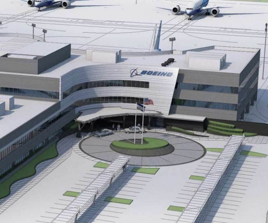 Boeing's planned new Everett Delivery Center is depicted in this artist's rendering. It will feature triple the space of the current facility. Photo: Boeing