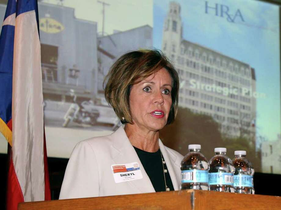 City Manager Sheryl Sculley attends a planning workshop in July. Informational meetings on the bond will be held in the coming months.  Photo: San Antonio Express-News, File Photo / treel@express-news.net