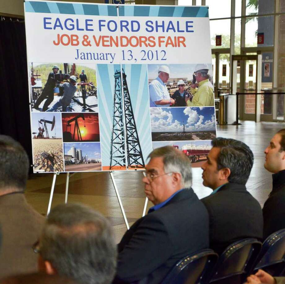 The Laredo Energy Arena was the site Friday morning of a press conference to announce the January 13, 2012 Eagle Ford Shale Job and Vendors Fair. Photo: CUATE SANTOS / LAREDO MORNING TIMES