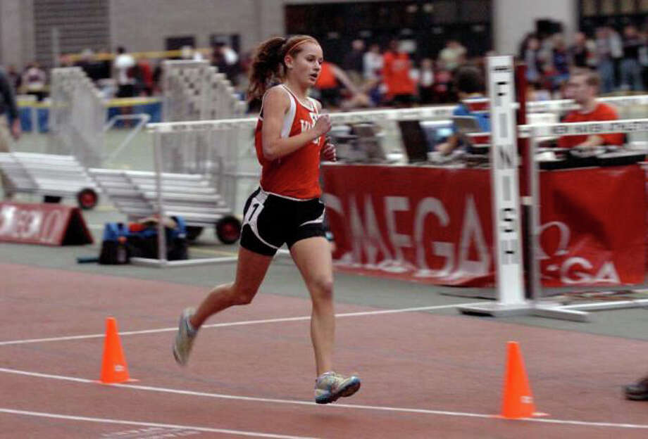 Warde's Cate Allen was a New England qualifier as a freshman a year ago, and likely will star for the Mustangs in the 1,600 meter run in 2011-12. Photo: File Photo