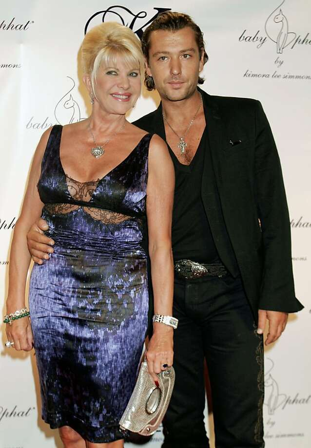 ** FILE ** Ivana Trump and her boyfriend Rossano Rubicondi arrive at a dinner party following the Baby Phat runway show at Fashion Week in New York City, in a Friday, Sept. 7, 2007 file photo. The ex-wife of real estate mogul Donald Trump is tying the knot Saturday evening with Italian entrepreneur Rossano Rubicondi, said her spokeswoman Catherine Saxton.(AP Photo/Andy Kropa, file) Ran on: 04-20-2008 Photo: Andy Kropa, AP