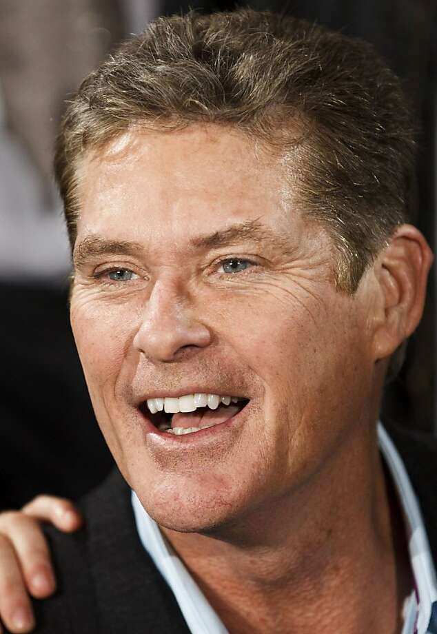 "Actor David Hasselhoff from United States poses before the premiere of Spanish movie ""Brain Drain 2"" at Callao Cinema in downtown Madrid, Thursday, Nov. 24, 2011. (AP Photo/Daniel Ochoa de Olza) Photo: Daniel Ochoa De Olza, AP"