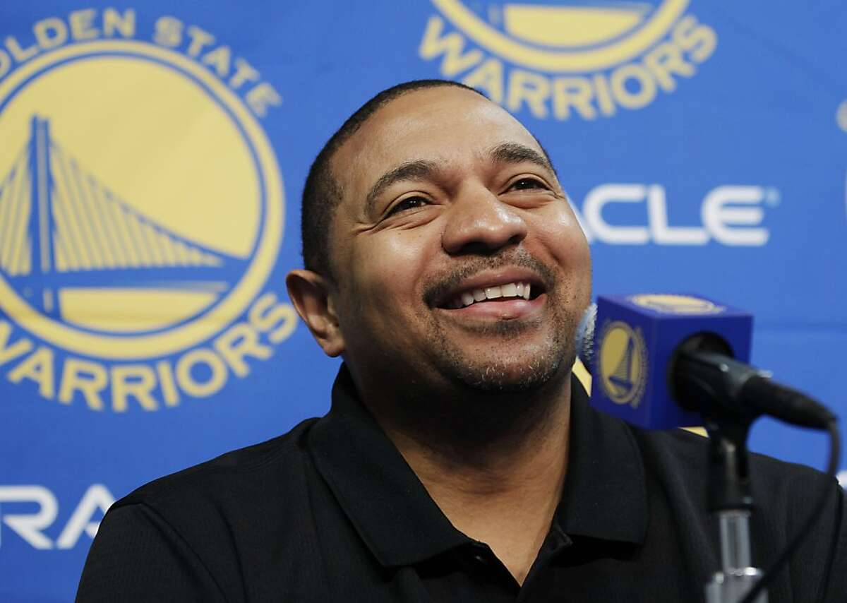 Golden State Warriors head coach Mark Jackson smiles during an NBA basketball news conference in Oakland, Calif., Thursday, Dec. 1, 2011. (AP Photo/Paul Sakuma) Ran on: 12-09-2011 Photo caption Dummy text goes here. Dummy text goes here. Dummy text goes here. Dummy text goes here. Dummy text goes here. Dummy text goes here. Dummy text goes here. Dummy text goes here.###Photo: warriors09_PHjack11322524800AP###Live Caption:Golden State Warriors head coach Mark Jackson smiles during an NBA basketball news conference in Oakland, Calif., Thursday, Dec. 1, 2011.###Caption History:Golden State Warriors head coach Mark Jackson smiles during an NBA basketball news conference in Oakland, Calif., Thursday, Dec. 1, 2011. (AP Photo-Paul Sakuma)###Notes:Mark Jackson###Special Instructions: Ran on: 12-09-2011 Photo caption Dummy text goes here. Dummy text goes here. Dummy text goes here. Dummy text goes here. Dummy text goes here. Dummy text goes here. Dummy text goes here. Dummy text goes here.###Photo: warriors09_PHjack11322524800AP###Live Caption:Golden State Warriors head coach Mark Jackson smiles during an NBA basketball news conference in Oakland, Calif., Thursday, Dec. 1, 2011.###Caption History:Golden State Warriors head coach Mark Jackson smiles during an NBA basketball news conference in Oakland, Calif., Thursday, Dec. 1, 2011. (AP Photo-Paul Sakuma)###Notes:Mark Jackson###Special Instructions: