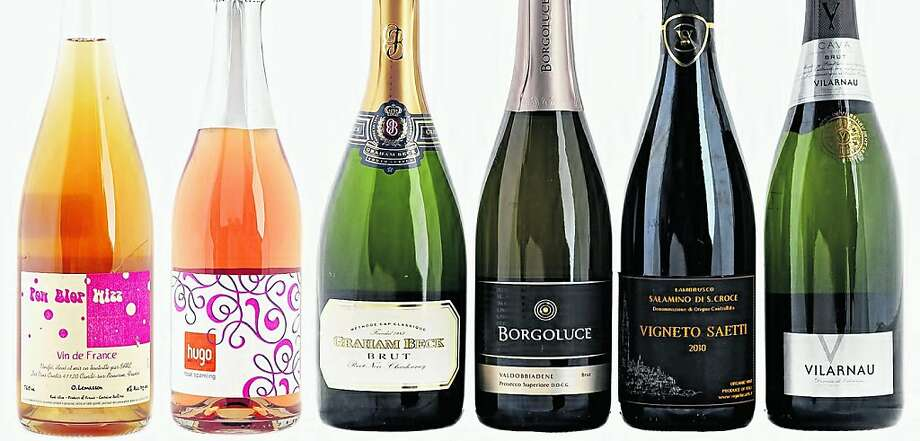 A six-pack of sparkling wines from around the globe.   Food#Food#Broadsheet#12/04/2011#ALL#Advance2##0504692179 Photo: Craig Lee, Special To The Chronicle