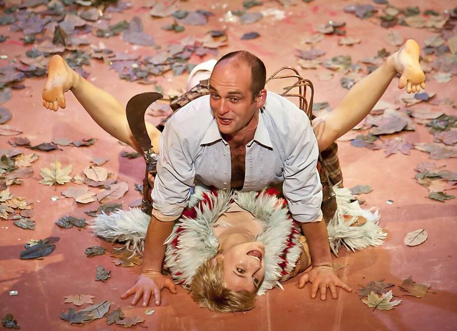 """Stuart Goodwin as The Prince and Patrycja Kujawska as The Wild in the Kneehigh Theatre Company's """"The Wild Bride"""" at the Berkeley Repertory Theatre in Berkeley, Calif. on Thursday Dec. 1, 2011. Photo: Tim Maloney, The Chronicle"""