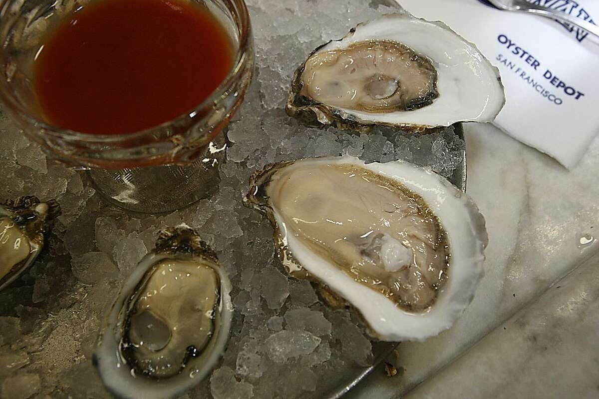 An order of oysters at Swan Oyster Depot in San Francisco, Calif., on Thursday, December 1, 2011.