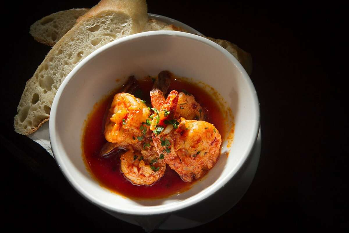 Shrimp with smoked paprika at Canela Restaurant in San Francisco, Calif., is seen on Saturday, December 3rd, 2011.