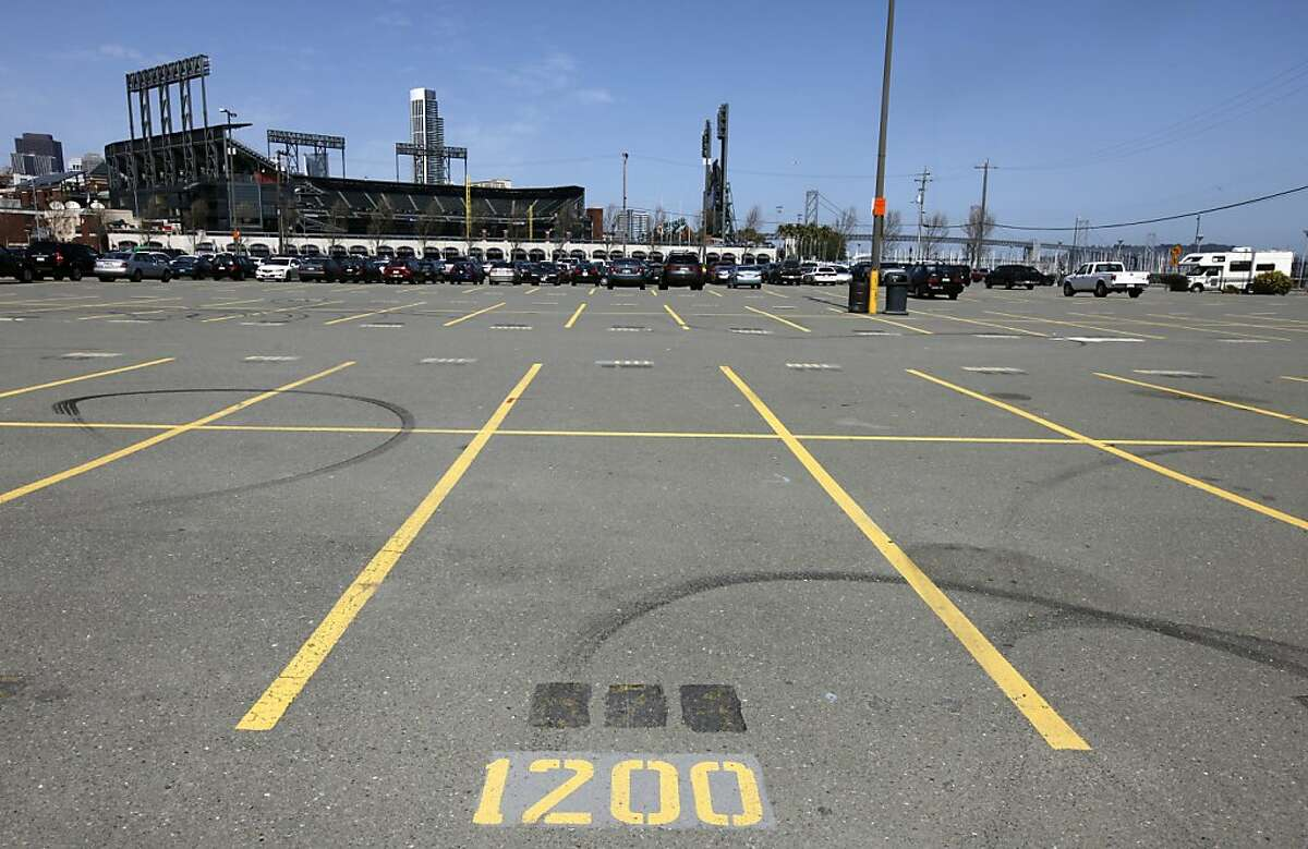 A parking lot south of AT&T Park and China Basin is seen in San Francisco, Calif., on Wednesday, March 24, 2010. Rumors are circulating that a new basketball arena could be built on the site which could be a new home for the Golden State Warriors if the NBA team is sold.