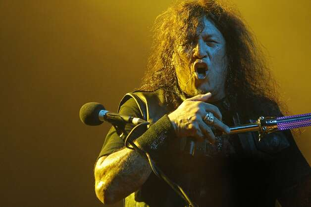 Chuck Billy of Testament performs at the Warfield Theater in San Francisco, Calif., on Sunday, Oct. 23, 2011. Photo: Dylan Entelis, The Chronicle