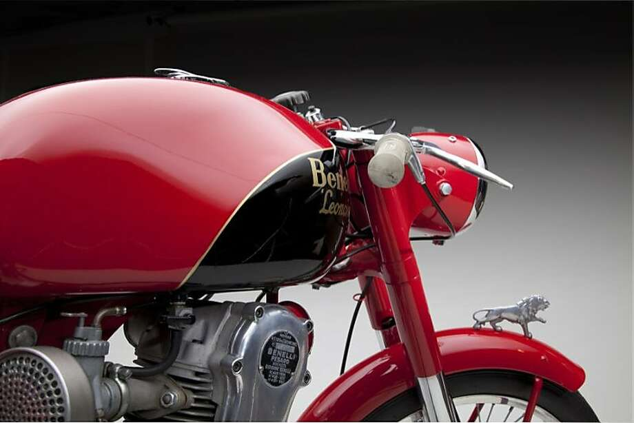 """The Benelli 123cc Leoncino, """"The Little Lion,"""" is on display as part of """"Moto Bellissima: Italian Motorcycles from the 1950s and 1960,"""" at SFO Museum. Photo: SFO Museum"""